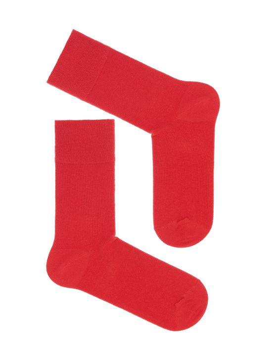 Skarpetki do garnituru, jednolita czerwona podstawa