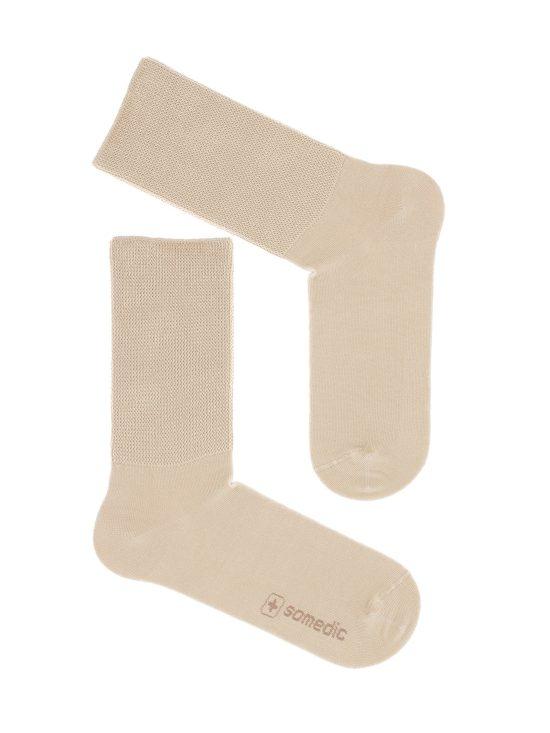 Skarpetki bezuciskowe medyczne beżowe