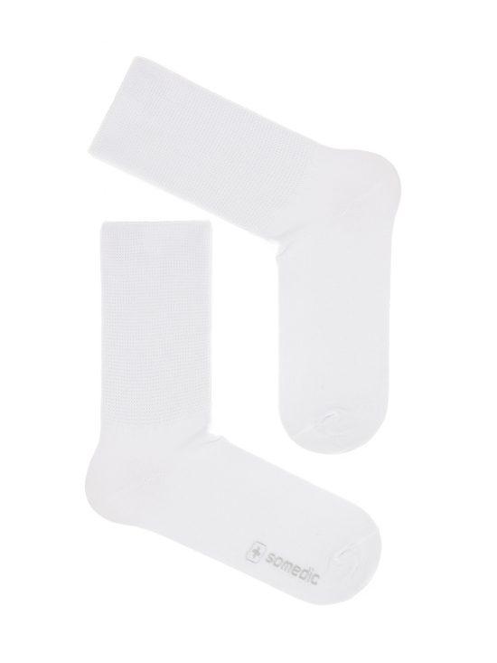 Skarpetki bezuciskowe medyczne białe