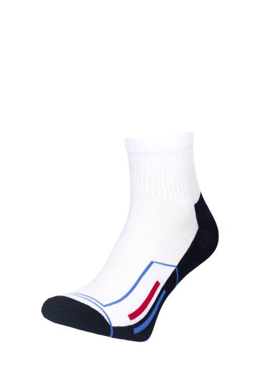 Skarpetki sportowe białe z czarnym spodem