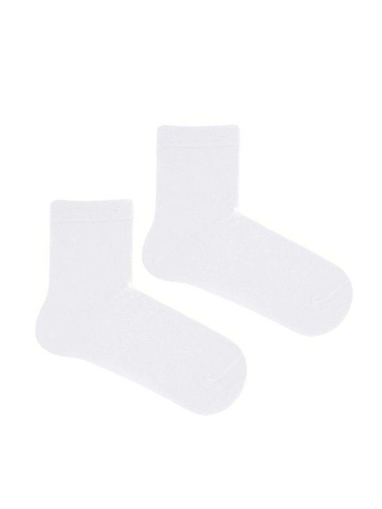 Gładkie skarpetki dziecięce w kolorze białym